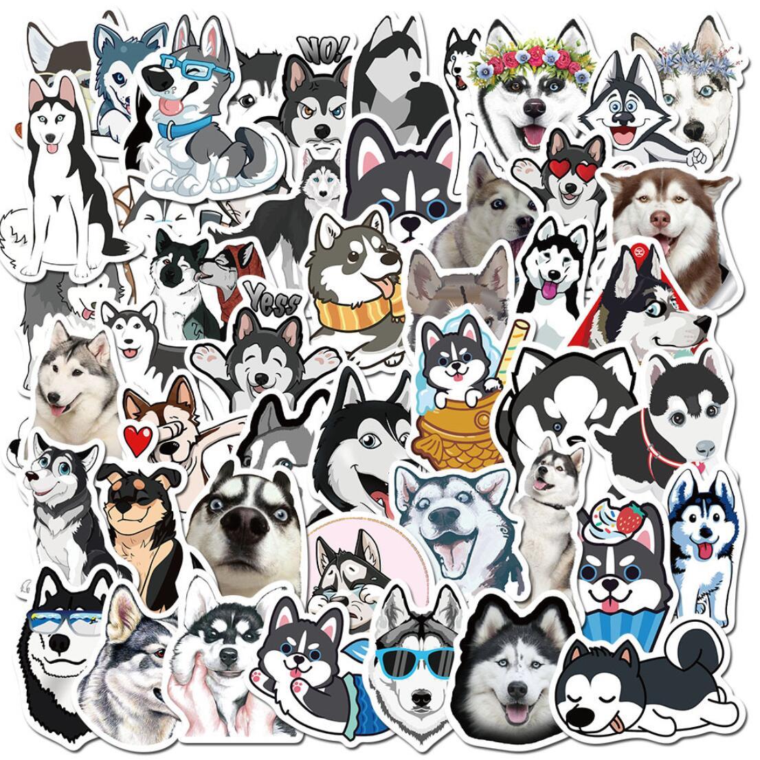 50 шт./компл. стильная футболка с изображением персонажей видеоигр Хаски Косплей Shiba Собака ПВХ водонепроницаемые канцелярские принадлежнос...