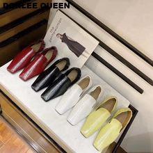 Туфли женские на низком каблуке брендовые эластичные лоферы