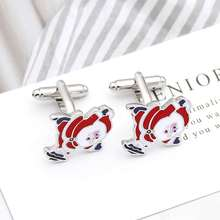 Shirt Cufflinks Christmas Jewelry Men's Full-Copper High-Quality New Gift French Painted