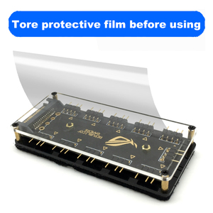 12V 4pin RGB AURA 5V 3 pin ARGB RGBW Kabel Splitter Hub Fall w/Band & Erweiterung kabel Adapter LED Streifen Licht PC RGB Fan Kühler