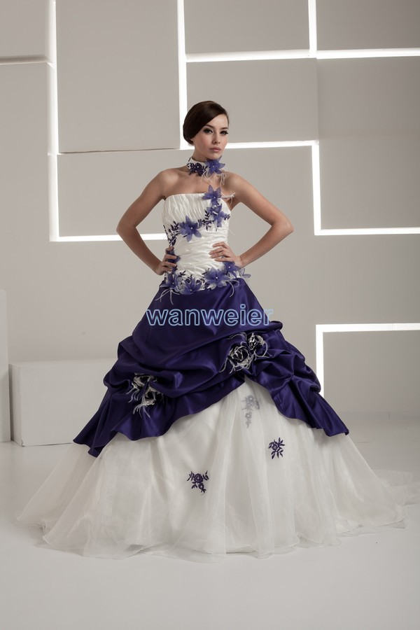 Free Shipping 2016 New Design Hot Real Image Bridal Gown Good Quality Custom Size/color Ball Gown Lace Up Wedding Dress Colored