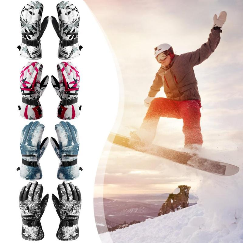 Men Women Unisex Ski Gloves Outdoor Winter Waterproof Touchscreen Snowboard Mountaineering Motorcycle Riding Cycling Warm Gloves