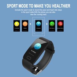 Image 4 - Akıllı saat kan basıncı ölçüm Q1 spor bilezik su geçirmez spor Cicret bilezik erkekler kadınlar için aktivite izci