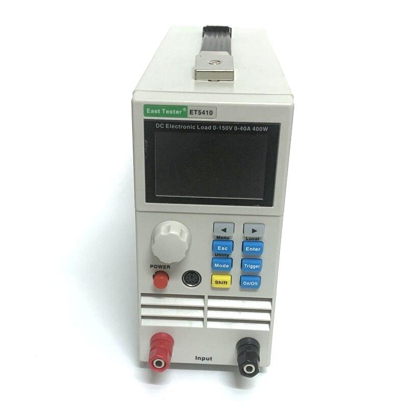 ET5410 Профессиональный программируемый 150V 40A 400W DC Электрическая нагрузка цифровой контроль DC нагрузка электронный тестер батареи
