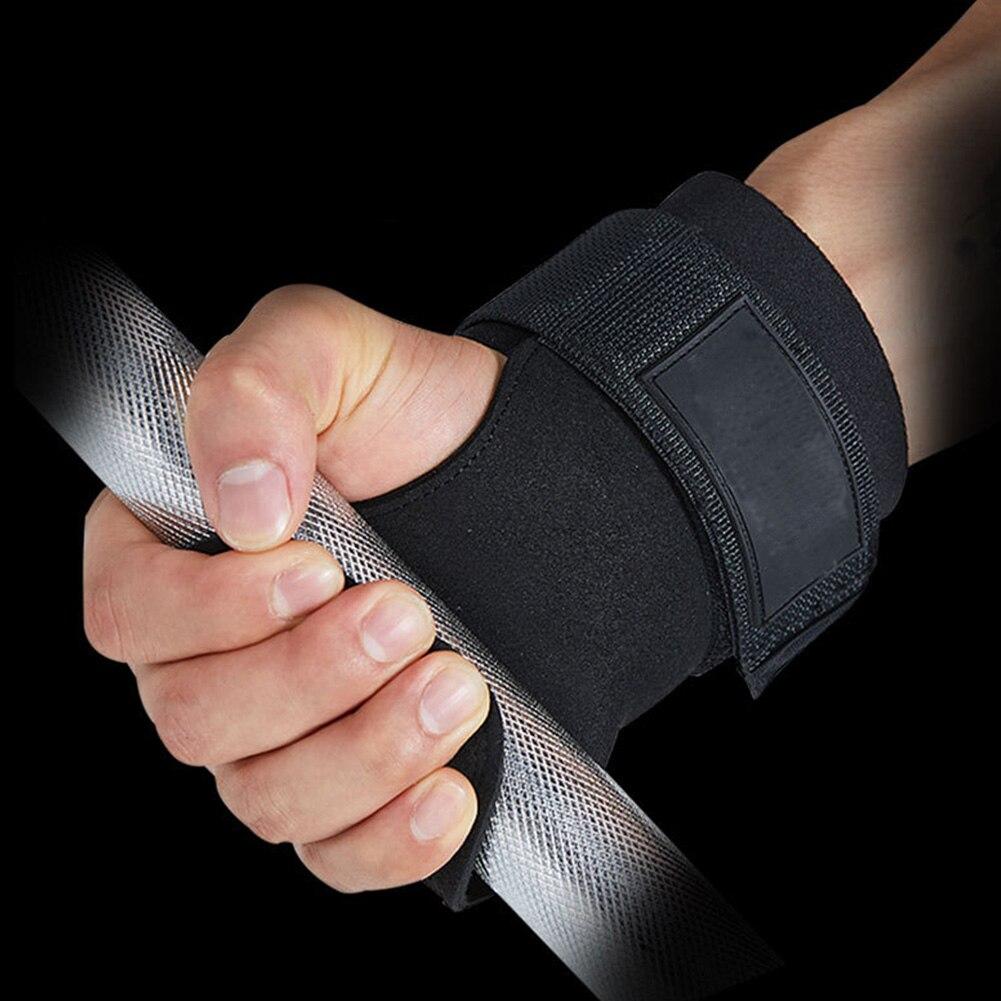 1 Pair Workout  Protect Gloves Chinning Bodybuilding Anti Slip Gym Training Strength Horizontal Bar Wrist Wrap Grip Strap
