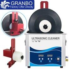 Lp Ультразвуковой очиститель для ванны 180 л Вт Регулируемая мощность с пластинчатым кронштейном 6-7 об/мин EU/US/AU/UK Plug виниловые пластинки CD диск