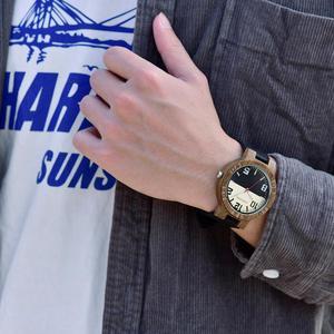 Image 2 - בובו ציפור מזדמן עץ שעונים לגברים למעלה מותג יוקרה עור שעון יד גבר שעון אופנה שעוני יד relogio masculino OEM