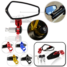 """2Pcs 7/8"""" 22mm Bar End Side Rearview Mirror Universal Handlebar Rear View Mirrors For Yamaha Honda Scooter Bikes Accessories"""