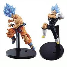 17cm Dragon Ball Z Super Saiyan Blue Hair Son Goku Vegeta LC PVC Action Figure Dragon Ball Anime Collection Doll Model toys Gift стоимость