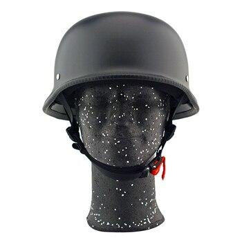 Hot New Motorcycle Helmet Half Open Face Helmet Summer Helmet Unisex for Motorcycle Biker Cruiser Scooter Matte Black 2019