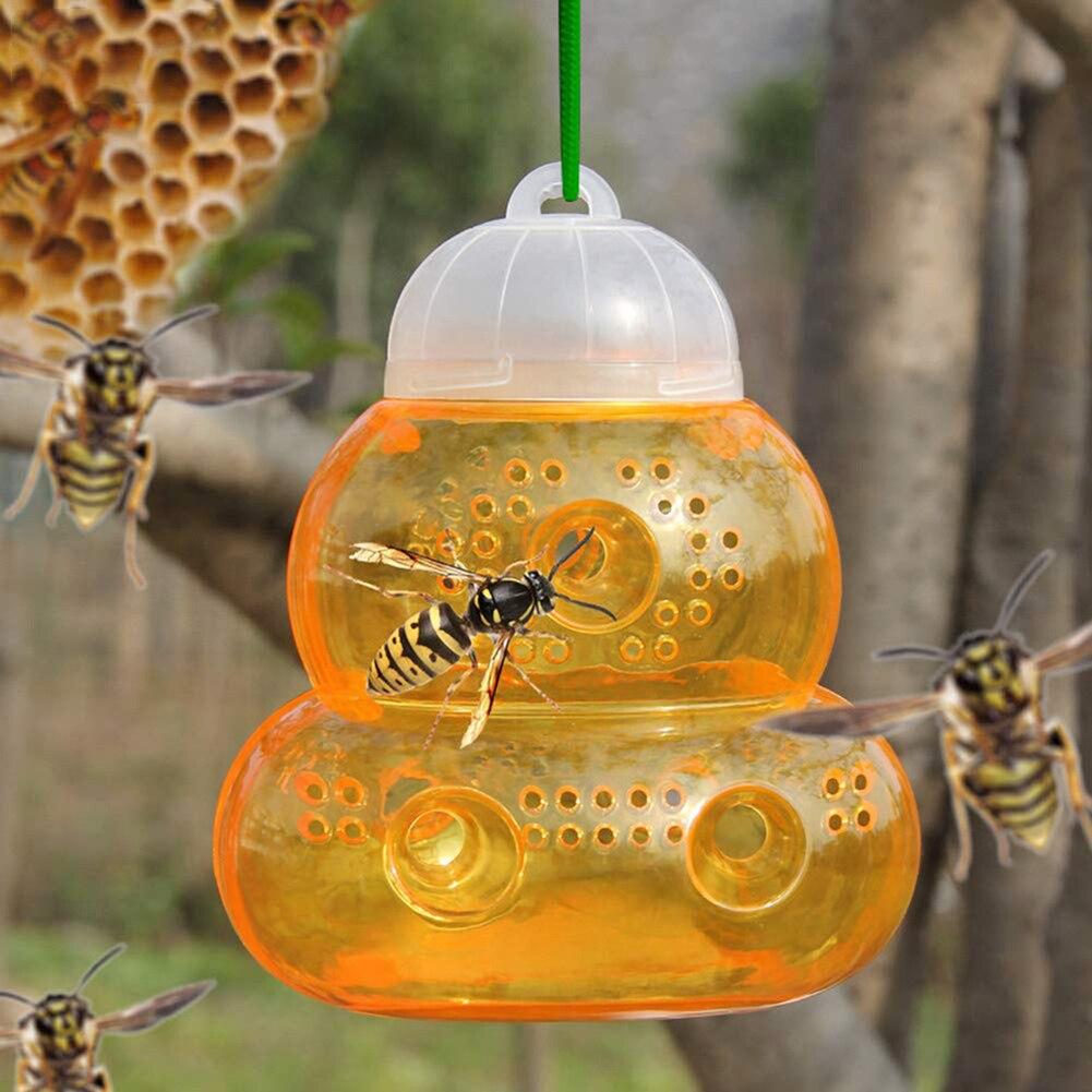 Arı yakalayıcı arı kovanı Wasp tuzak Hornets sarı ceketler Wasp kovucu Hornet tuzak Wasp Hornet asılı tuzakları öldürücü ev bahçe için