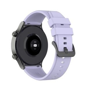 Image 5 - 22MM ספורט סיליקון בנד עבור LS05 רצועת רצועת השעון עבור Samsung גלקסי שעון 3 45mm  Huawei gt 2 פרו צמיד X6HA