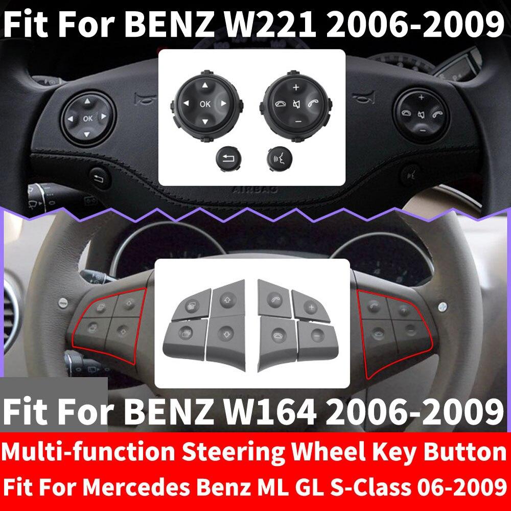 LHD RHD автомобиль многофункциональный руль Левая Правая кнопка телефон ключ управления для Benz W221 S-CLASS S280 S300 W164 ML GL 06-2009