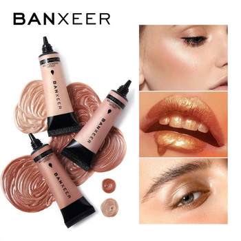 BANXEER Liquid Highlighter Illuminating Make Up Cream Shimmer Contour Bronzer Shinning Body Face Glow Highlight  6 Colors