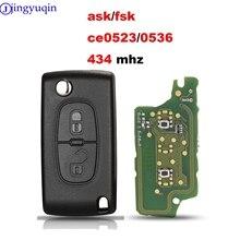 Jingyuqin 10p 434Mhz ASK FSK için Peugeot 107 207 307 308 407 607 Citroen C2 C3 C4 c5 C6 C8 Xsara Picasso CE0523 Ce0536