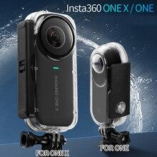 Yeni Insta360 ONE X girişim durumda su geçirmez muhafaza kabuk Insta 360 dalış koruyucu kılıf için Insta360 One X kamera aksesuarları
