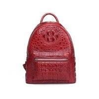 dongou new true crocodile backpack female fashion outdoor Travel bag crocodile bones Leather bag women backpack