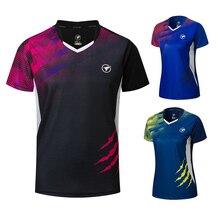 Новые рубашки для бадминтона для мужчин/женщин, спортивные рубашки для тенниса, футболки для настольного тенниса, быстросохнущие спортивные футболки для тренировок A121
