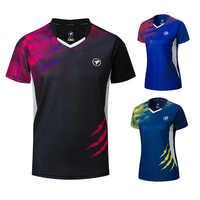 Neue Badminton shirts Männer/Frauen, sport hemd Tennis shirts, tischtennis t-shirt, schnell trocken sport training t-shirts A121