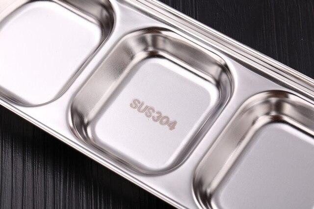 дисковая кухонная тарелка из нержавеющей стали для барбекю суши фотография