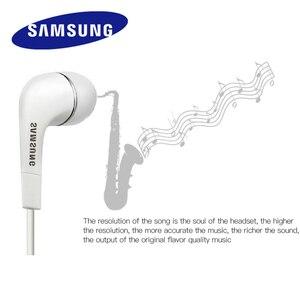 Image 4 - Écouteurs dorigine Samsung EHS64 casques avec Microphone intégré 3.5mm dans loreille écouteurs filaires pour Smartphones avec cadeau gratuit