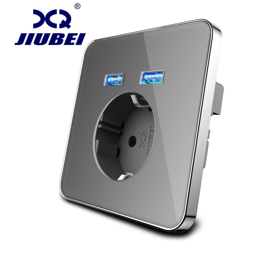 Jiubei умный дом 2A Dual USB Порты и разъёмы стены Зарядное устройство зарядный адаптер розетка с usb сетевой адаптер ЕС розетка Мощность розетки