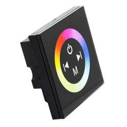 Do montażu na ścianie akrylowy czarny kontroler z panelem dotykowym dla 3528 5050 listwy RGB LED oświetlenie DC12V-24V 2 lat DC 12-24V wspólna anoda