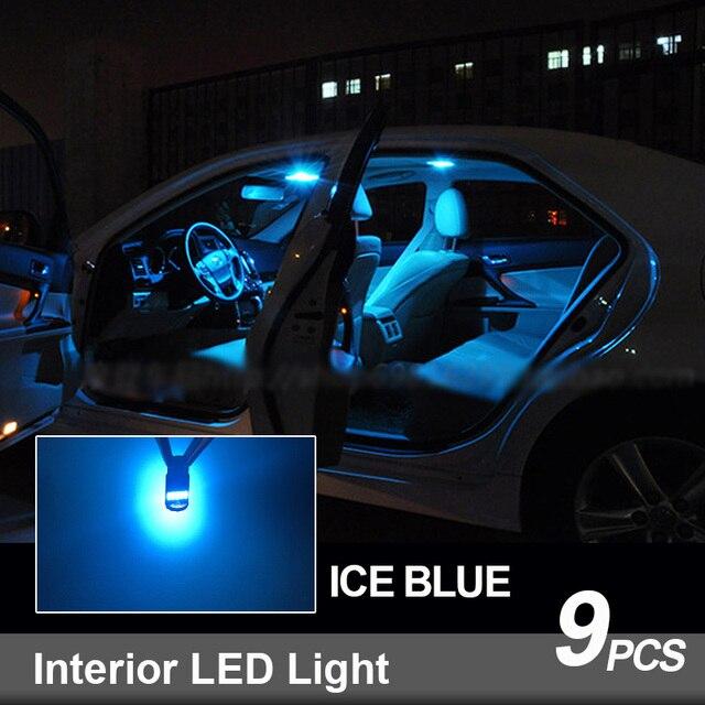 9pcs White Canbus LED Interior Light Map Dome Bulbs Kit Fit For 2015 2016 2017 Chrysler 200 Reading Ceiling TrunkLicense Lamp 6