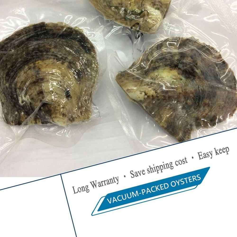 Vakuum-pack Oyster Perlen Mussel Shell mit 6 stücke Perlen Innen Süßwasser Perle Mysterious Überraschung Geschenk für Freunde