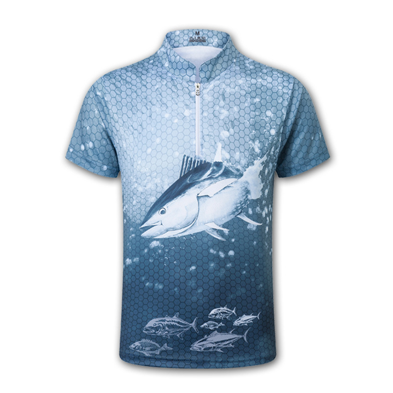 Quick Dry Fishing Clothing Breathable Summer Jersey Anti-UV Sunscreen Clothes Short Sleeve Fishing T Shirt
