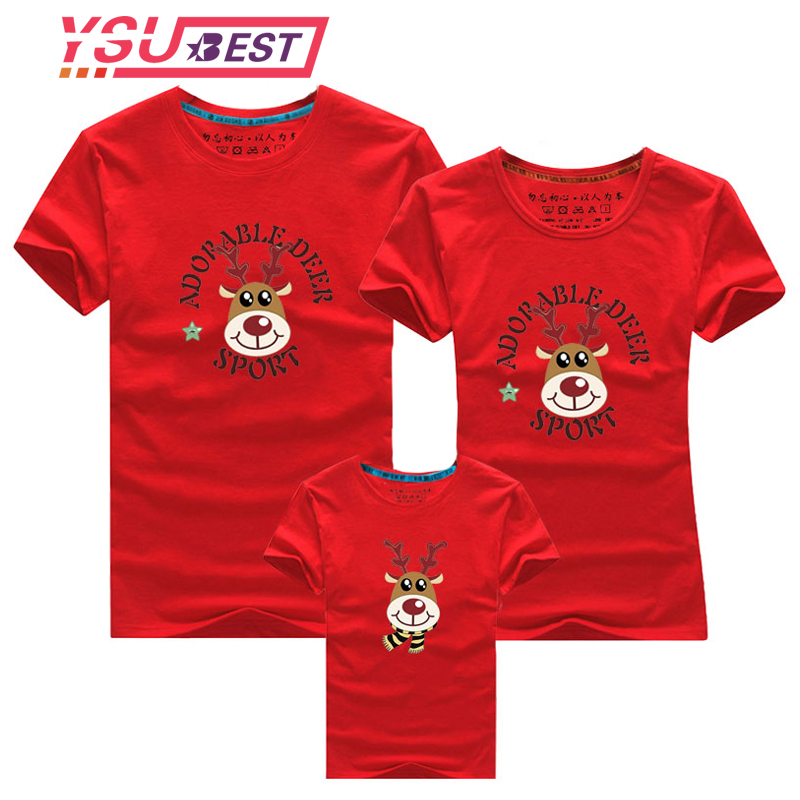 Family Look For Dad Mom And ME 2019 Father Mother Daughter Son Christmas New Year Cotton Sweater Outfits Family Matching Clothes