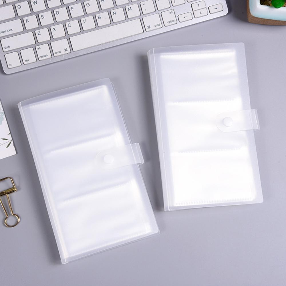 1pc 240Slots ID Holders PP Matte Business Card Book Large Capacity Business Card Clip Ticket Collection Book Card Stocks