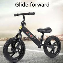 Children's Balance Bike Without Pedals Adjustable Height Learning Riding Scooter With Rotatable Handlebars