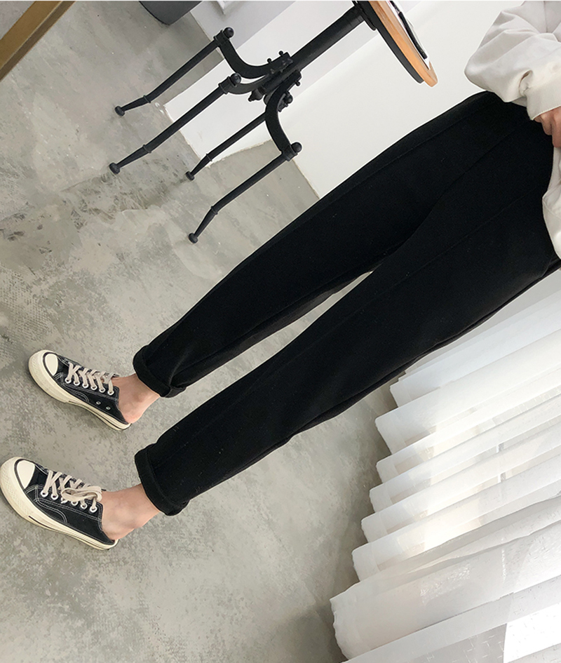 H5e9be5cd0e564c38861fce79167dc074z - Thicken Women Pencil Pants Autumn Winter Plus Size OL Style Wool Female Work Suit Pant Loose Female Trousers Capris 6648 50