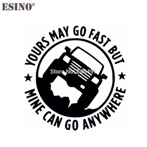 Funny Car Stickers Reflective Yours May Go Fast Mine Can Go Anywhere Auto Decal Bumper Body Decal Creative Pattern Vinyl