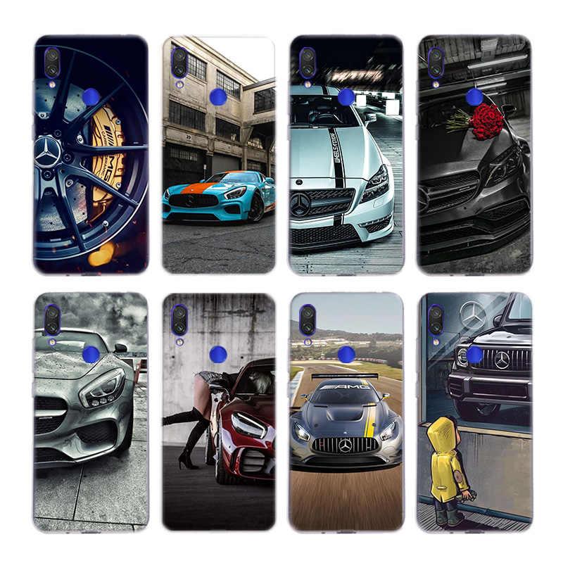 Luxus Mercedes Benz AMG Silica Fall Für Xiaomi Hinweis 10 9 8 lite A3 5X 6X CC9 CC9E 9SE 8SE 9T Pocophone F1 Abdeckung