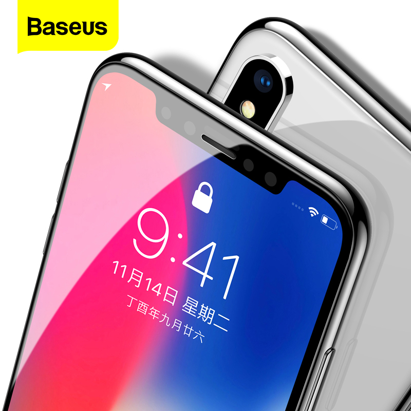 Baseus 0.3mm Screen Protector Tempered Glass For iPhone 12 11 Pro Xs Max X Xr Full Cover Protective Glass For iPhone 12 Pro Max(China)