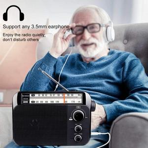 Image 5 - Retekess TR604 FM/AM 2 להקת נייד רדיו AC מופעל נטענת מקלט עם 3.5mm אוזניות שקע קשישים
