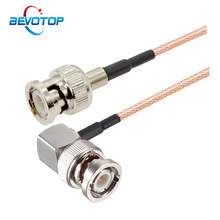 RG179 Cable 75 Ohm BNC Male Right Angle to BNC Male Plug Connector Adapter for Video Camera SDI Camcorder HD-SDI/3G-SDI/4K/8K