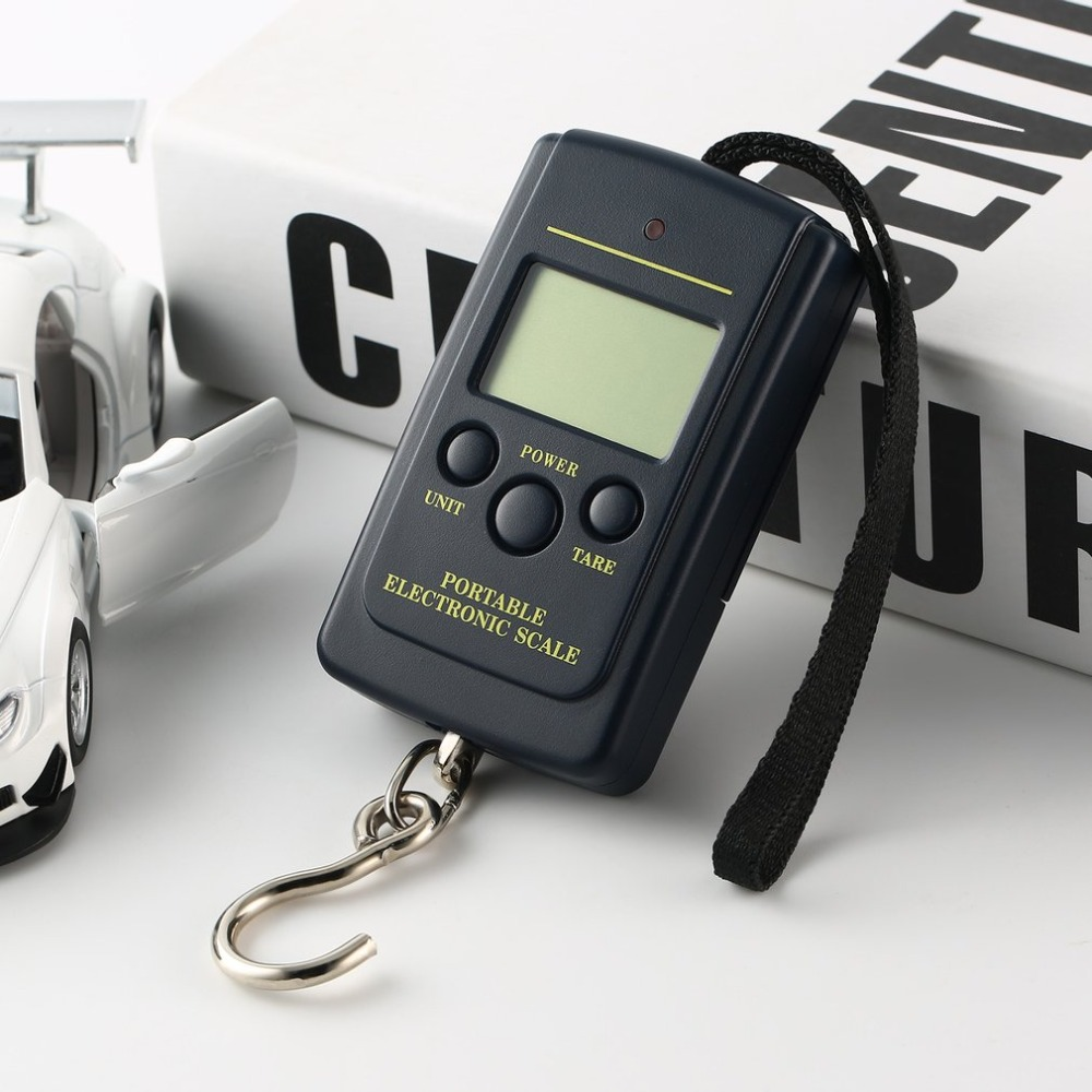 40kg/10g LCD Digital Scales Luggage Scale Load 40Kg LCD Mini Portable Weighting Fishing Scale Electronic Hanging Balance Fish