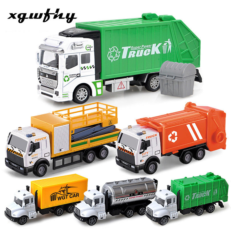 Fire Fighter Truck Set City Vehicles Toys Mini Diecasts Metal Alloy Classic Toys Children Learning Education New Year Gift Jm301