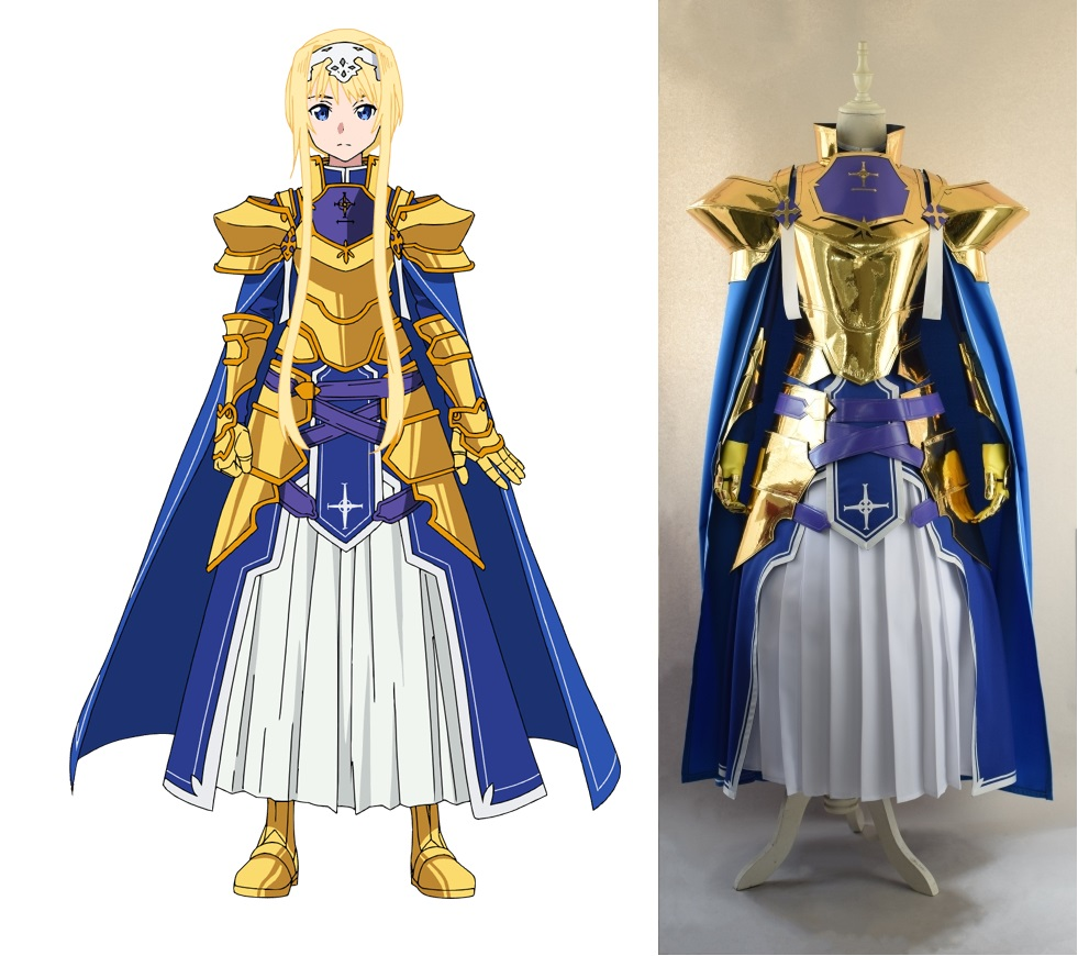 New Anime Sword Art Online Alicization SAO Alice Synthesis Thirty Cosplay Costume Knights Outfit Halloween Costumes For Women