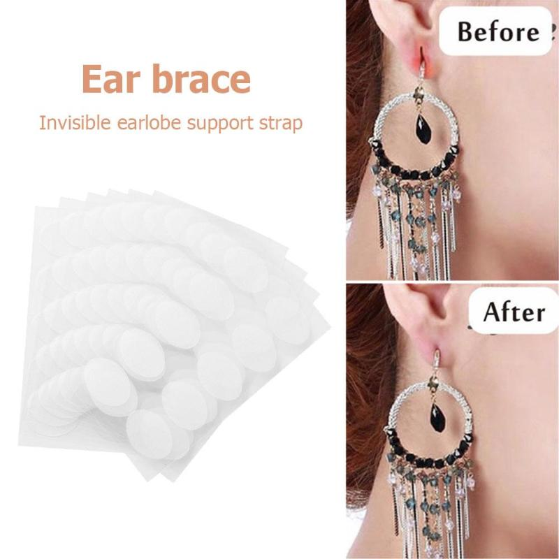 100pcs Invisible Earlobe Support Belt Suitable For Elongated Or Torn Earlobe Relieve Heavy Earrings Pressure Practical