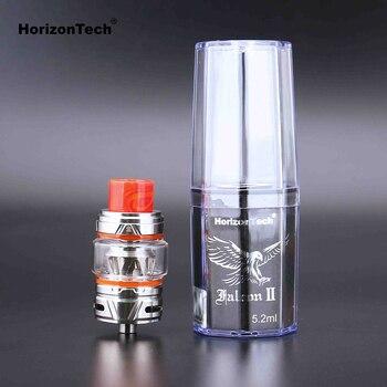 HorizonTech Falcon II – atomiseur pour cigarette électronique, réservoir de 5.2ml, avec 3 ou 6 bobines supplémentaires, pour Mod en boîte à 510 broches