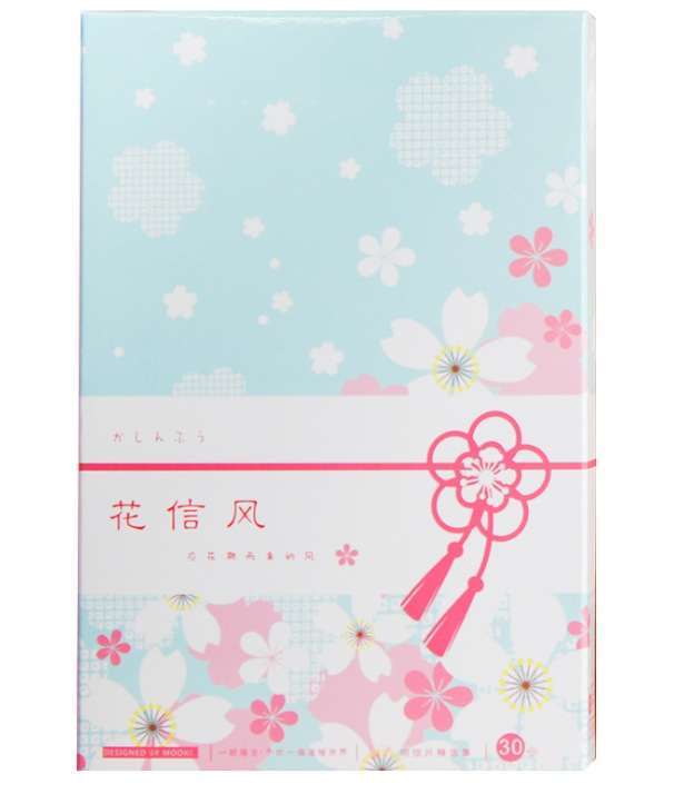 P62- Flower Wind Paper Postcard(1pack=30pieces)