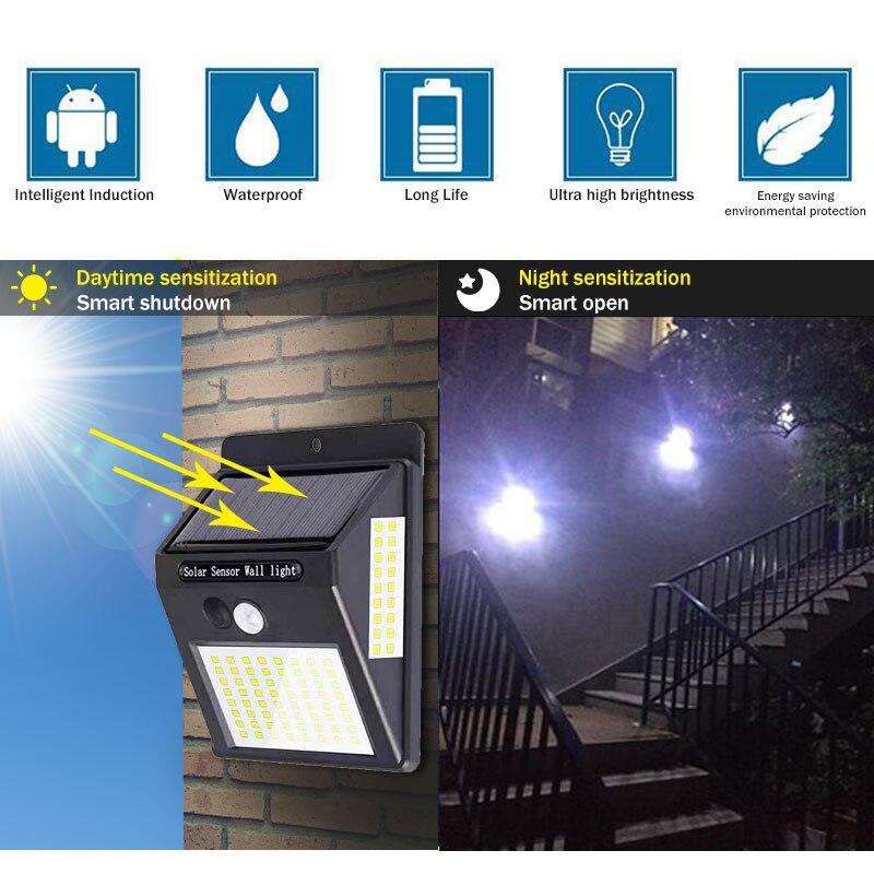 100 LED Solar Light Outdoor Solar Lamp PIR Motion Sensor Wall Light Waterproof Solar Powered Sunlight for Garden Decoration (4)