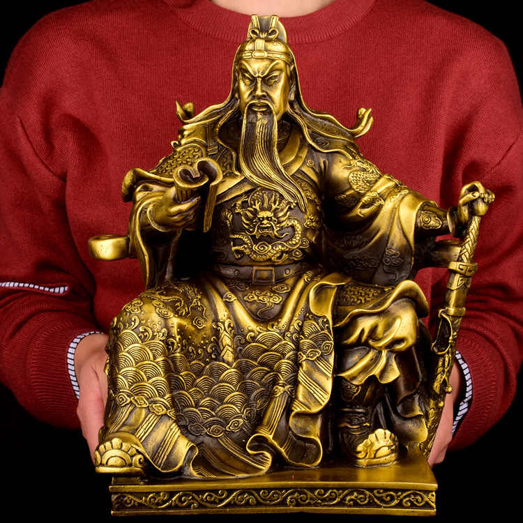 Pure Copper Guan Yu Bronze Statue Business Gift Opening Gifts Moneyi House Decorations Fengshui Big Ornament Feng Shui