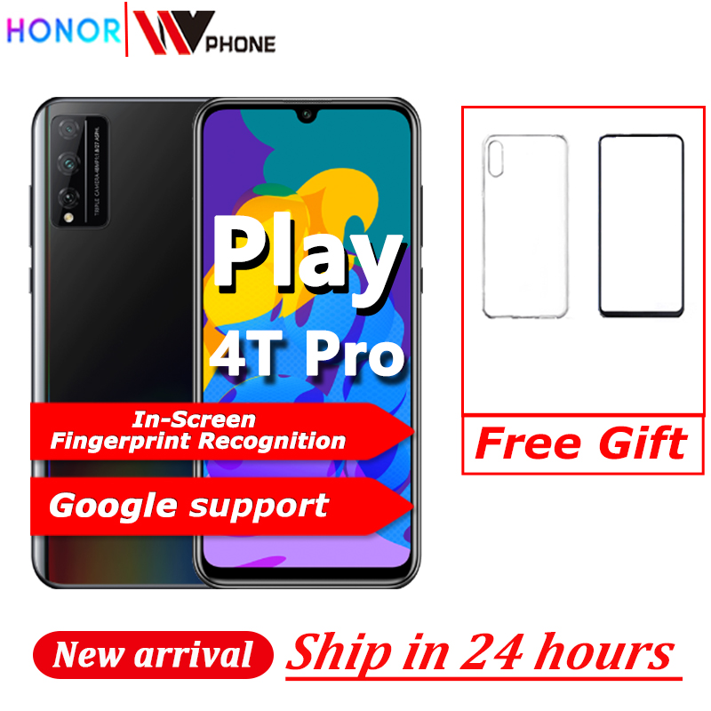 HONOR Play 4T Pro Smart Phone Kirin 810 6.3 inch OLED In-Screen Fingerprint Recognition 48MP 4000mAh SuperChager GPU Turbo Phone