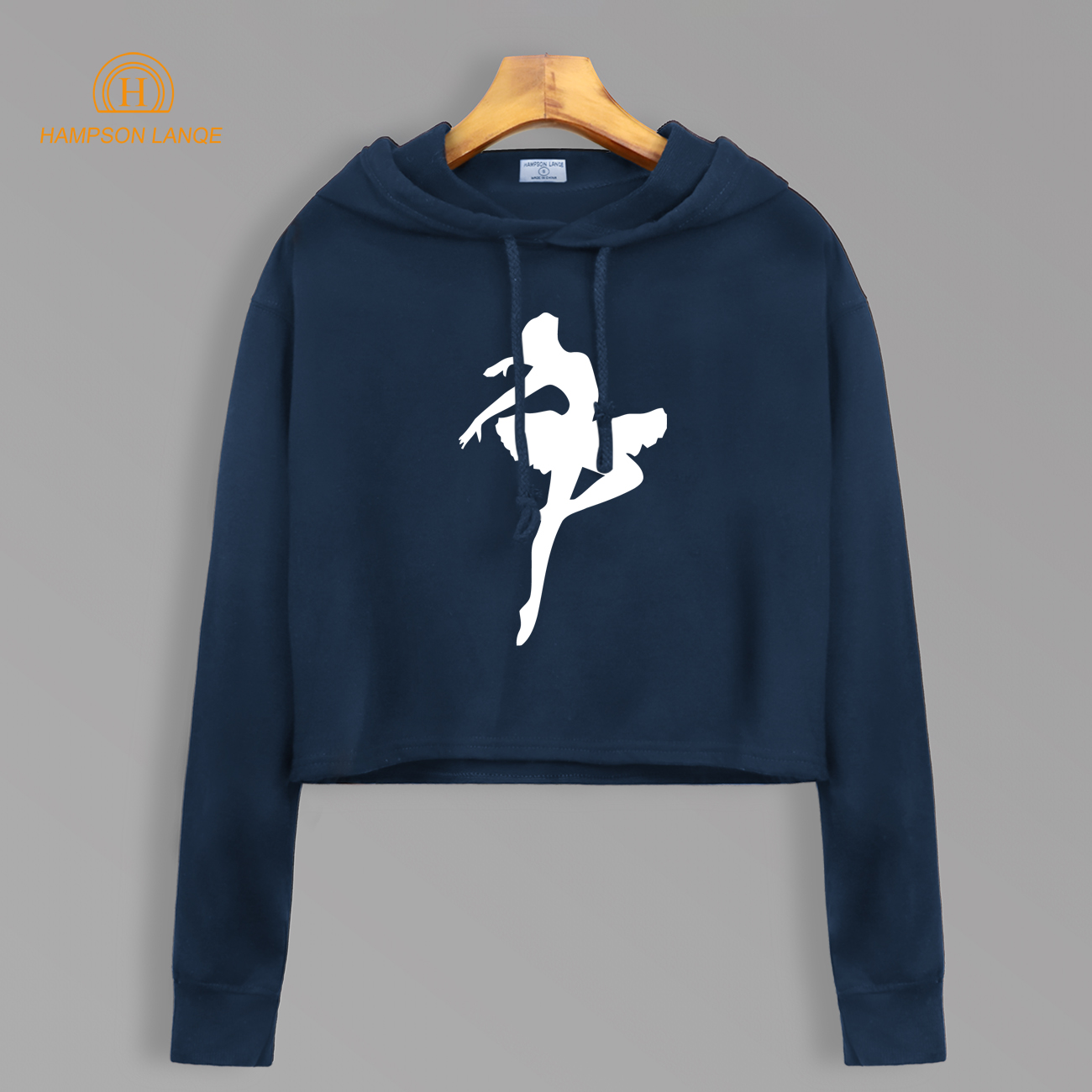 Ballet Dancer Dream Hoodies Autumn 2020 New Short Style Cropped Sweatshirts Kawaii Short Hoodie Fashion Women Crop Top Pollovers