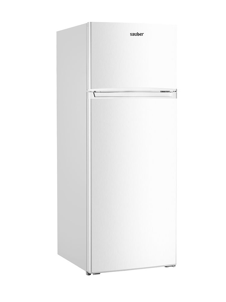 Refrigerator Two Doors Sauber Sf143B Nofrost TO + High 143 Cm Width 55 Cm White